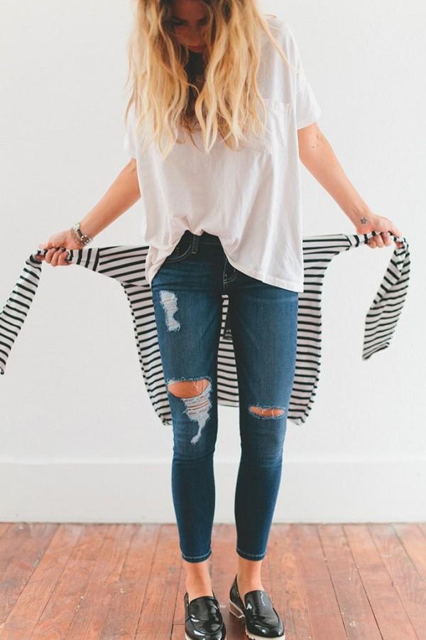 estilo limitado mejor elección acogedor fresco Looks que te animarán a romper tus jeans en la zona de las ...