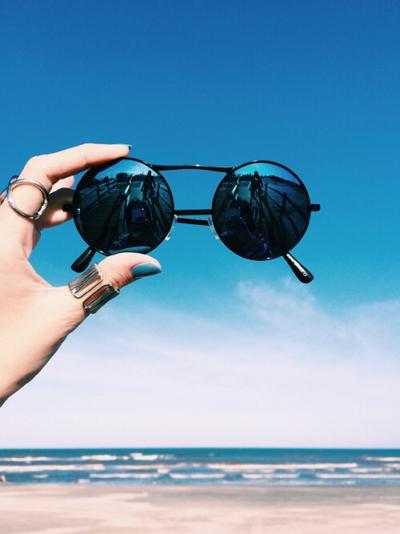 lentes redondos para playa