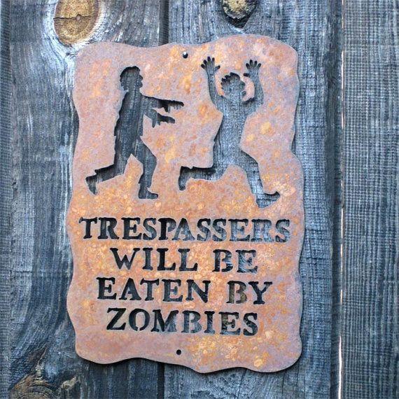 letrero zombie