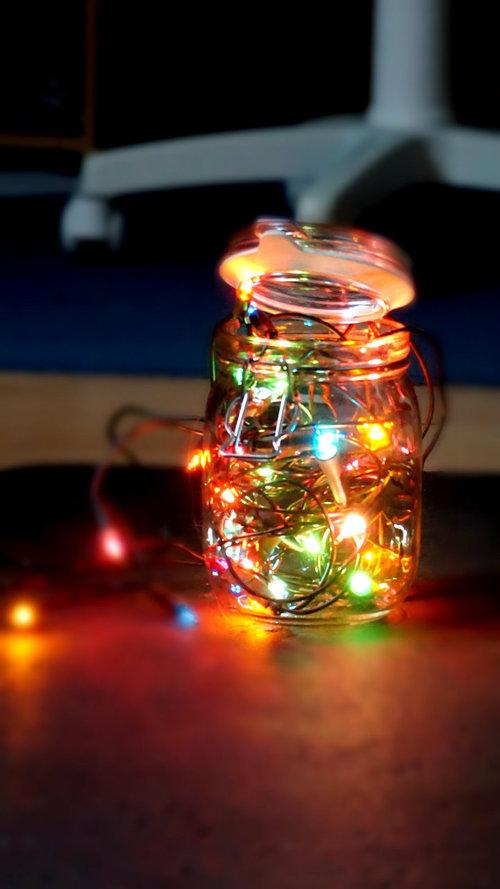luces mason jar