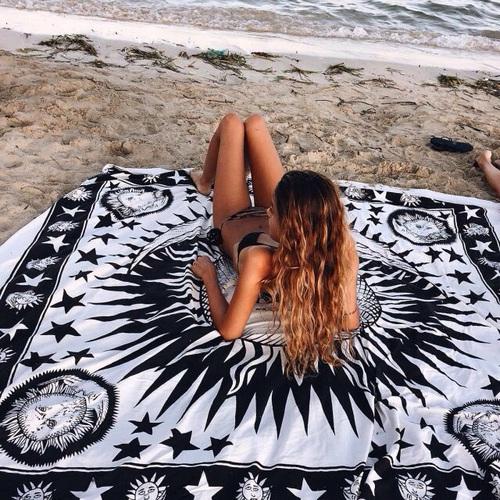manta para poner en la arena