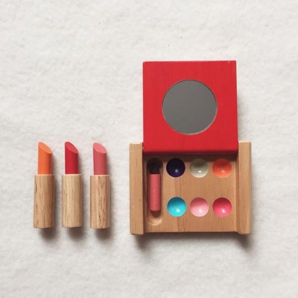 maquillaje madera