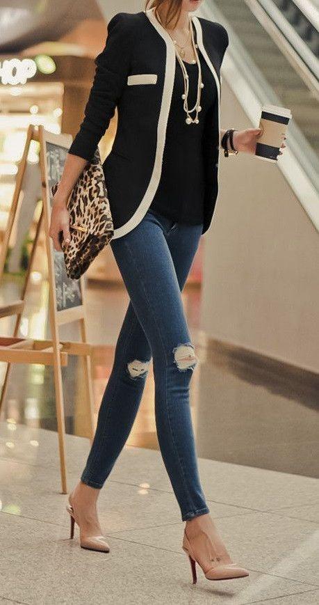 moda chic para chicas de oficina