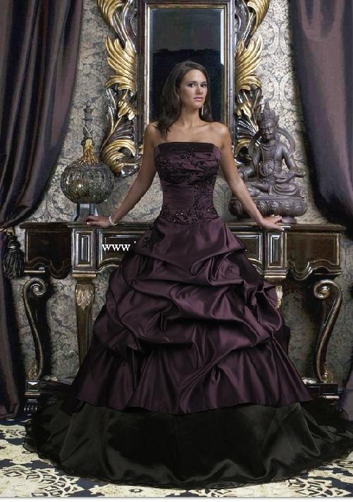 morado vestido