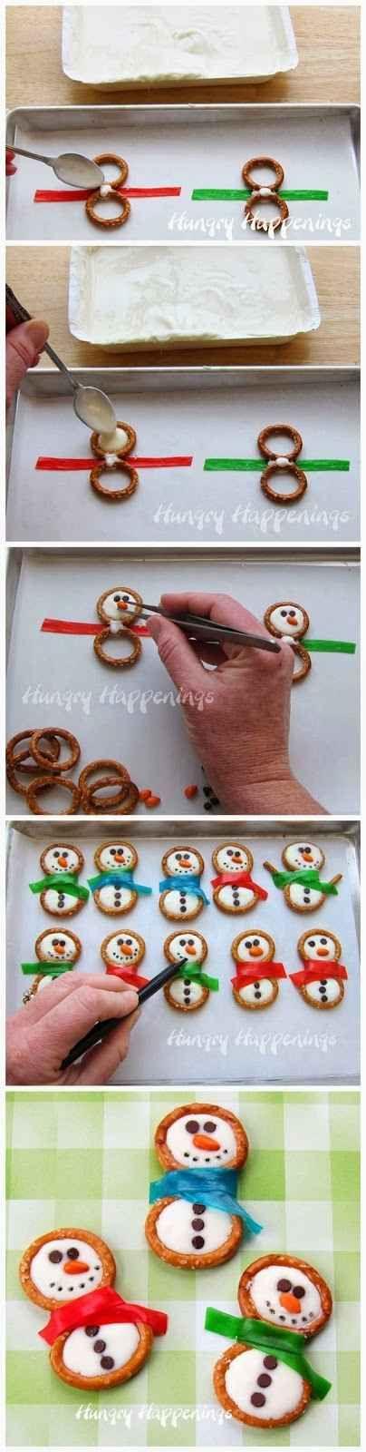 muñecos de nieve snacks