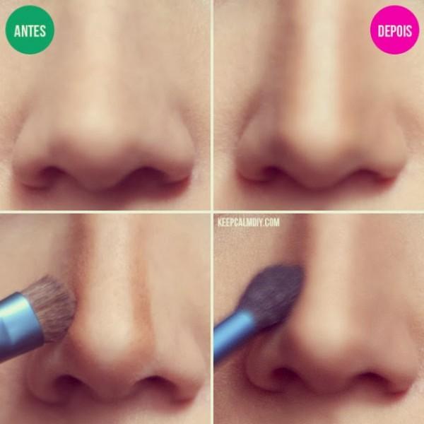 nariz maquillaje