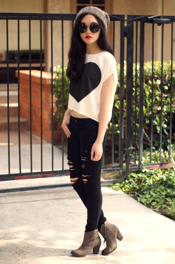 negro y blanco outfit