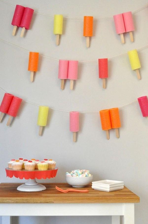 Ideas para tener una fiesta llena de helado - Decoracion de helados ...