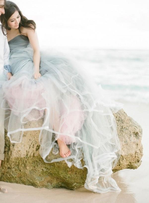 pastel color dress wedding