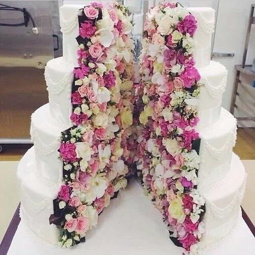 pastel releno flores