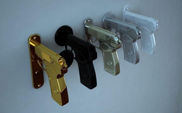 pistola colgador