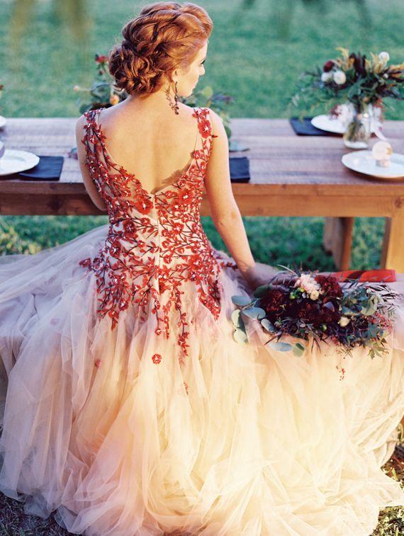 rojos vestido