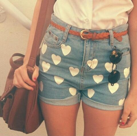 shorts-corazones