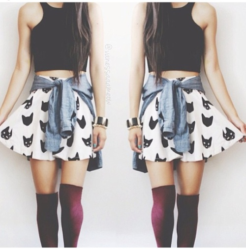 socks skirt