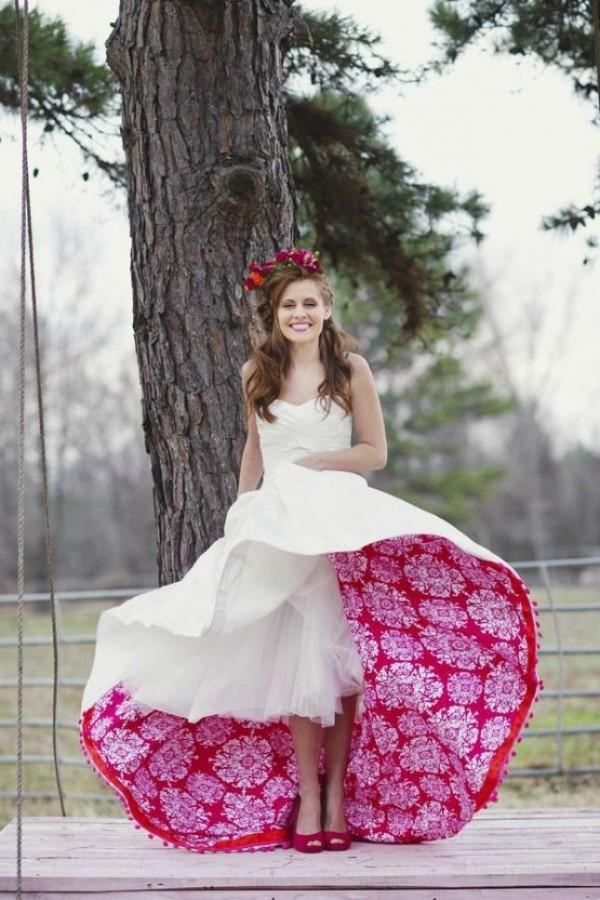 vestido de novia rosas