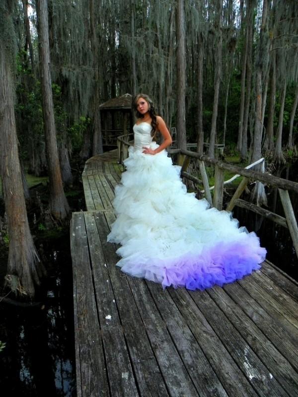 vestido novia morado
