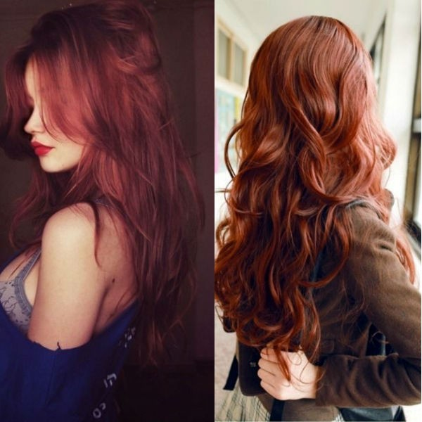 Rust red hair color