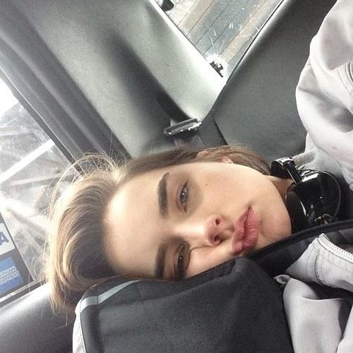 aburrida selfie