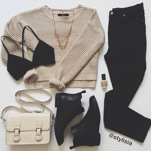 beige y negro