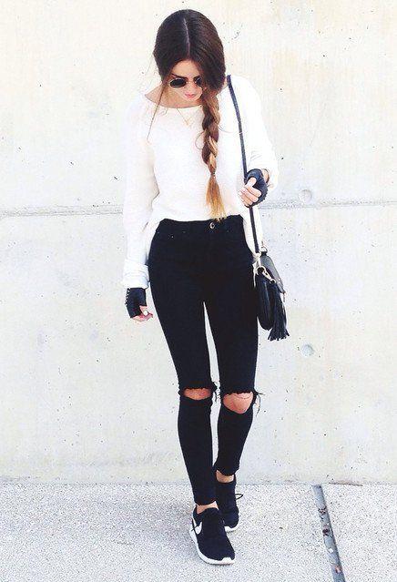 blanco y negro look
