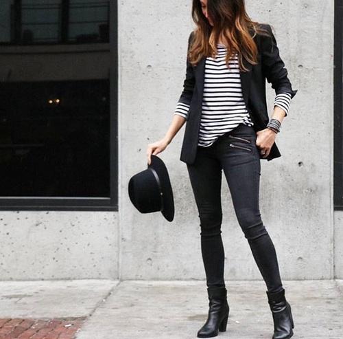 blazer negra