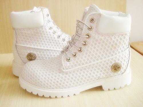 botas timberland blancas