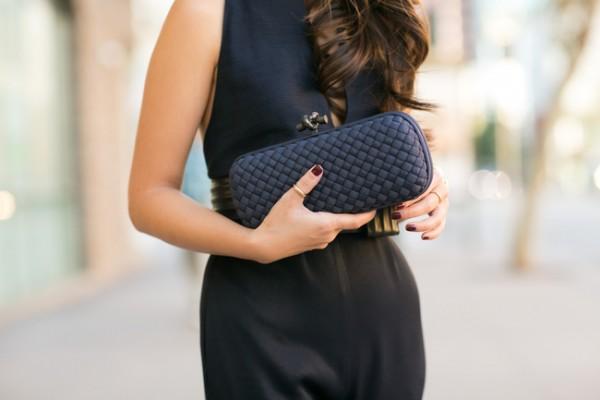 clutch bolso negro