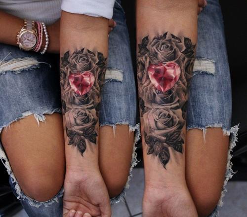 diamante rosas