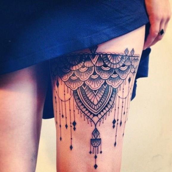 00fec262af Tatuajes Para Mujeres En La Pierna Ligas - Tatuajes