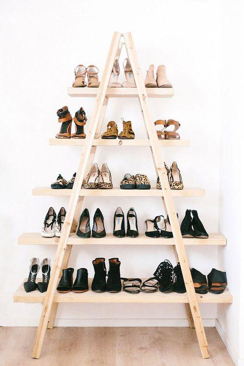 escalera zapatos
