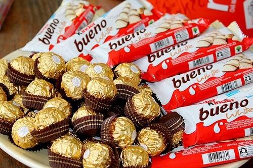 estos dos chocolates
