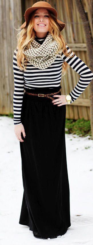 005b0b488 Formas de usar una maxi falda en invierno