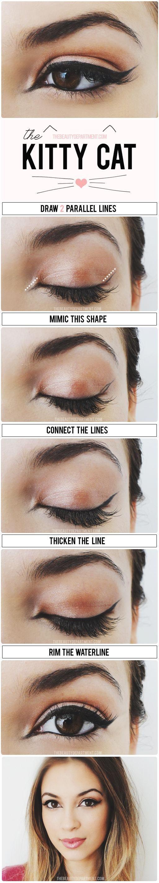 feline eyeliner