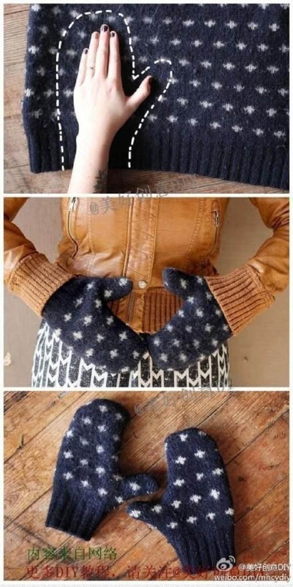 guantes de sueter