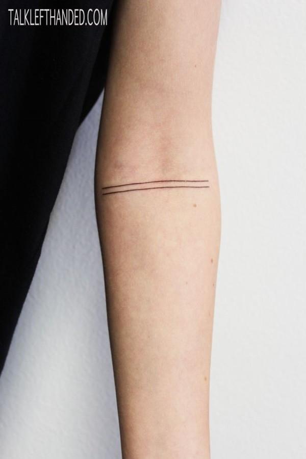 Tatuajes Antebrazo Simples hermosos tatuajes que una simple línea podrá darte