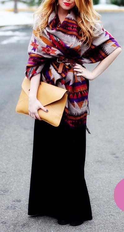 maxi-falda invierno