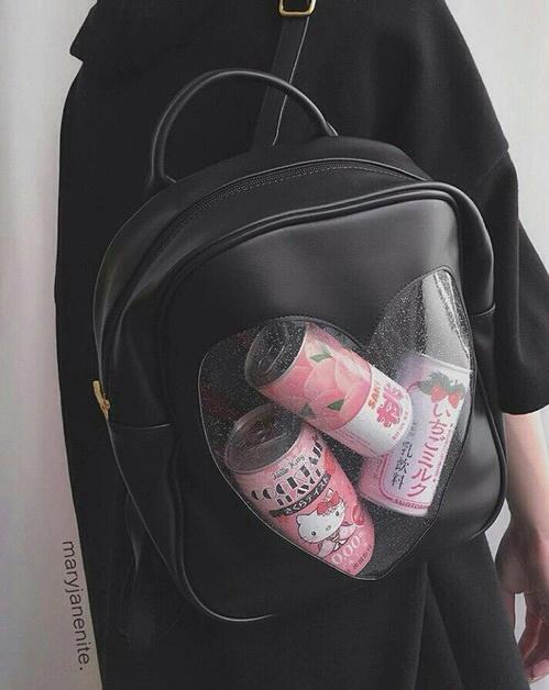 mochila transparente cute