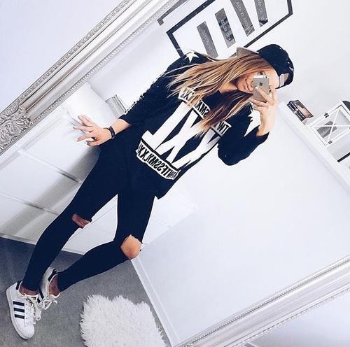 negro con blanco