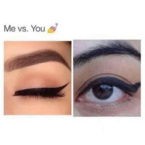 ojos delineados