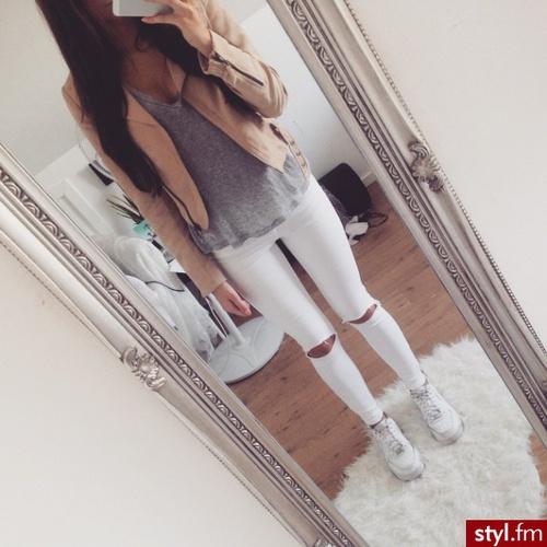 pantalones blancos cute