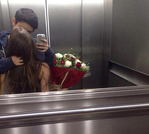 pareja selfi