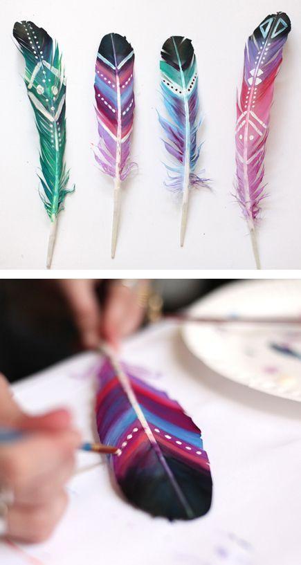 plumas tribales