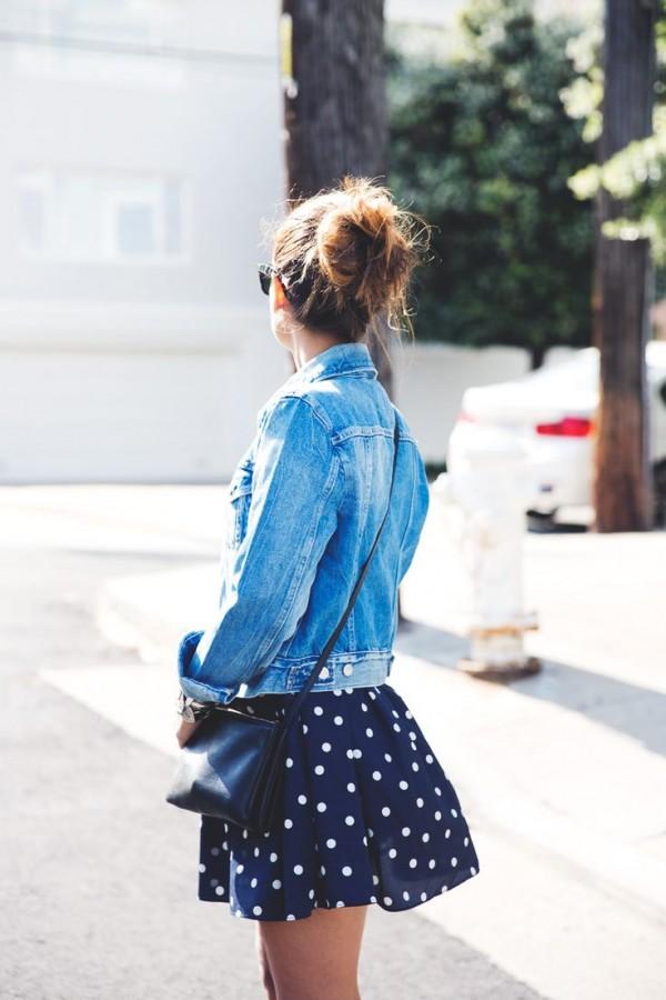 ropa con puntitos cute