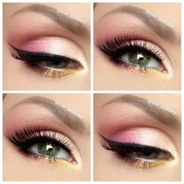 rosa y dorado
