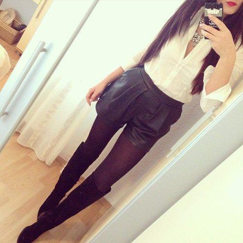 shorts medias botas