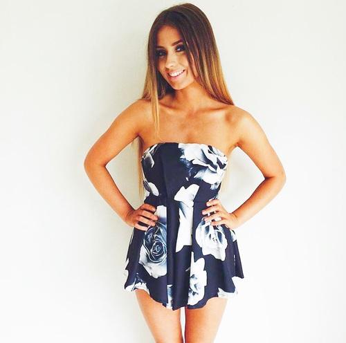 strapless vestido
