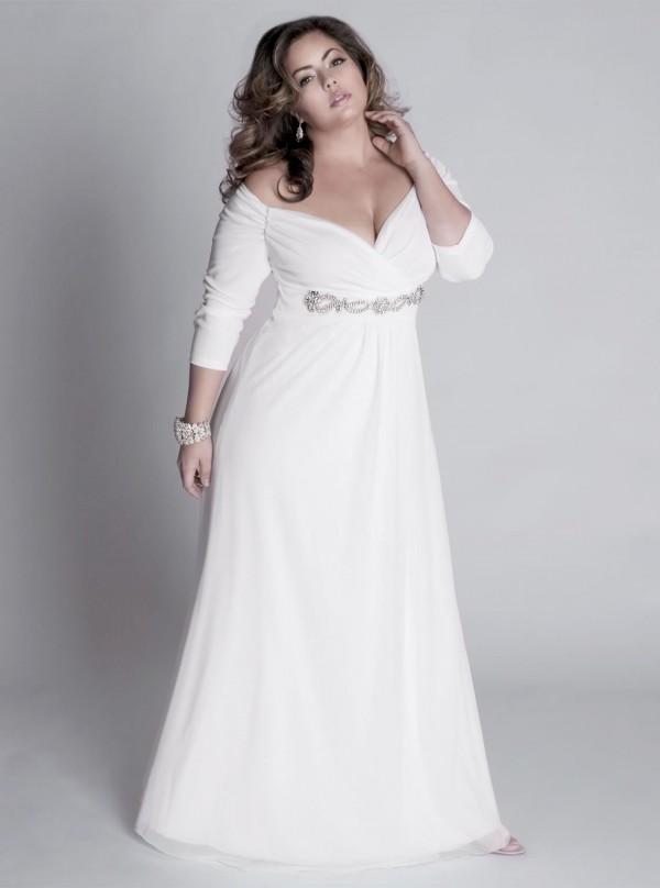 Vestidos cortos para novias gorditas