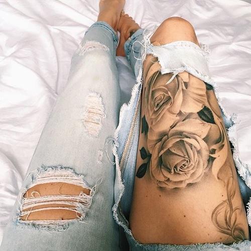 tatuajes rosas