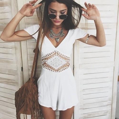 vestido blanco mujer bonito