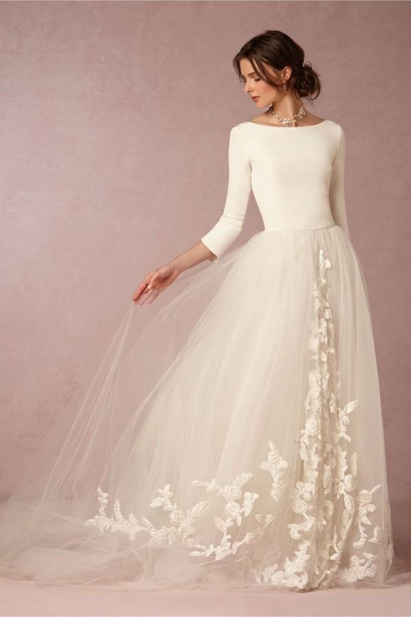 vestido novia mangas